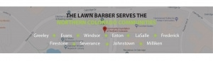 Service locations for the lawn barber